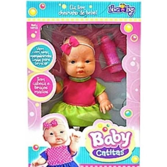 BONECA BABY CATITAS 23CM