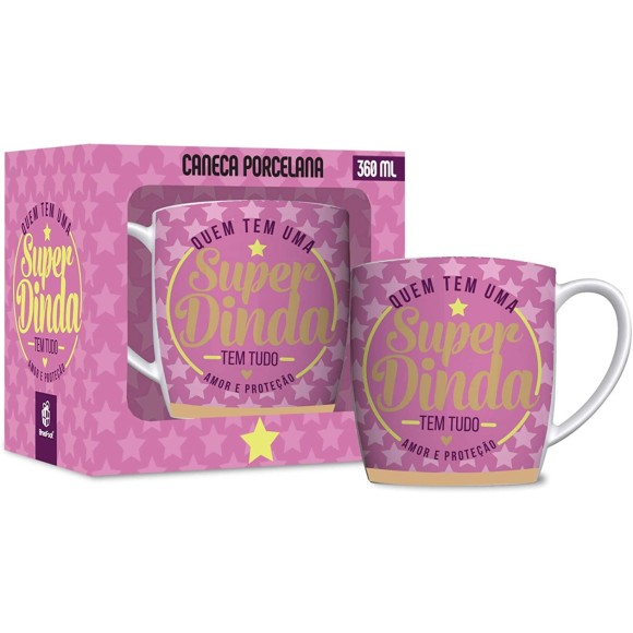 CANECA PORCELANA URBAN 360ML SUPER DINDA