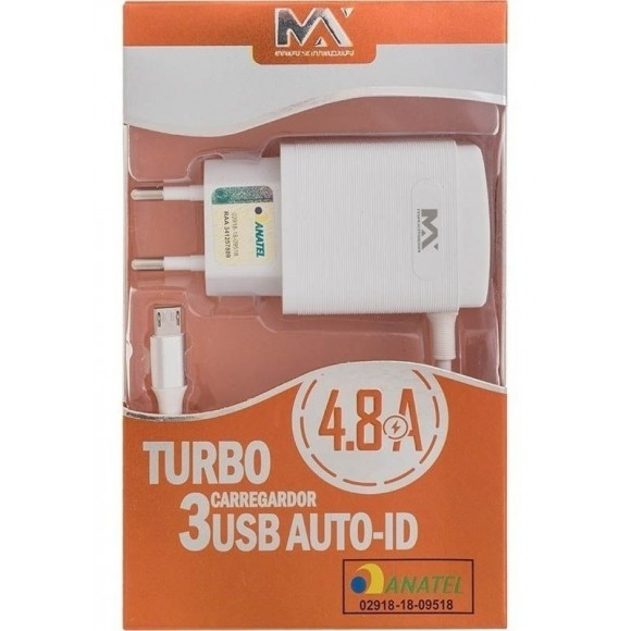 CARREGADOR USB IPHONE 3U 4.8A