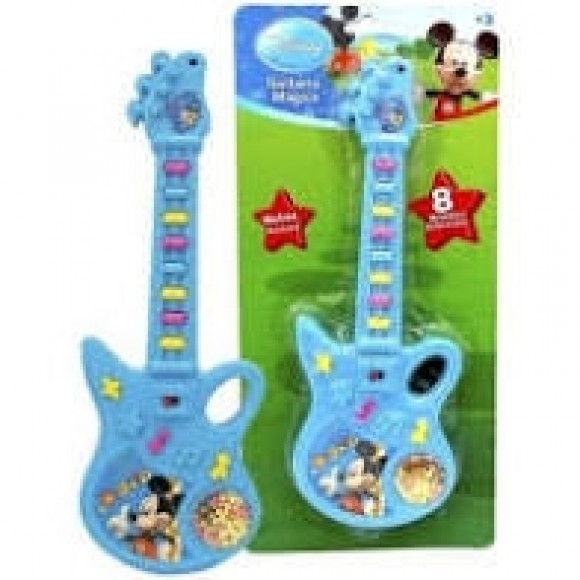 GUITARRA MUSICAL INFANTIL PERSONAGENS 24CM