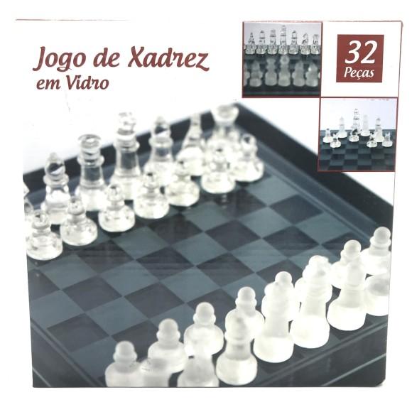 JOGO XADREZ VIDRO 20CM