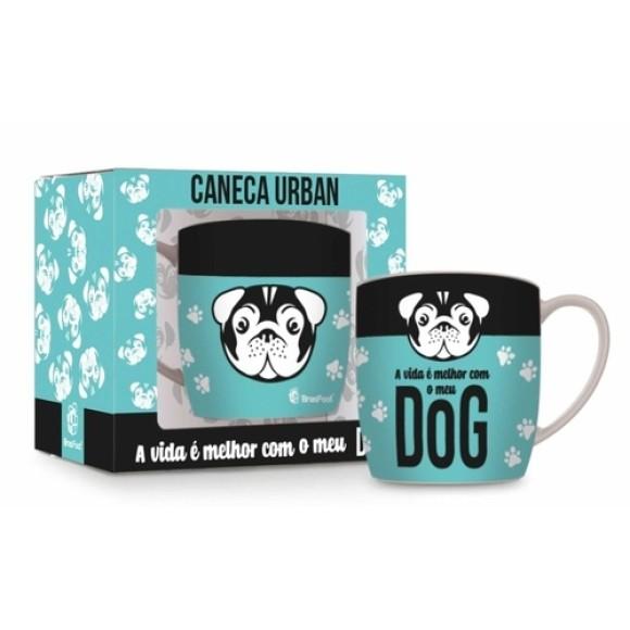 CANECA PORCELANA 360ML URBAN DOG