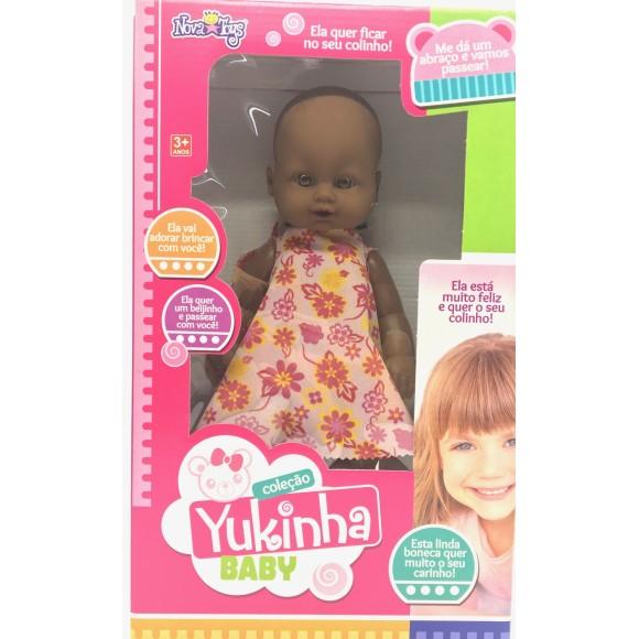 BONECA YUKINHA BABY 33CM NEGRA