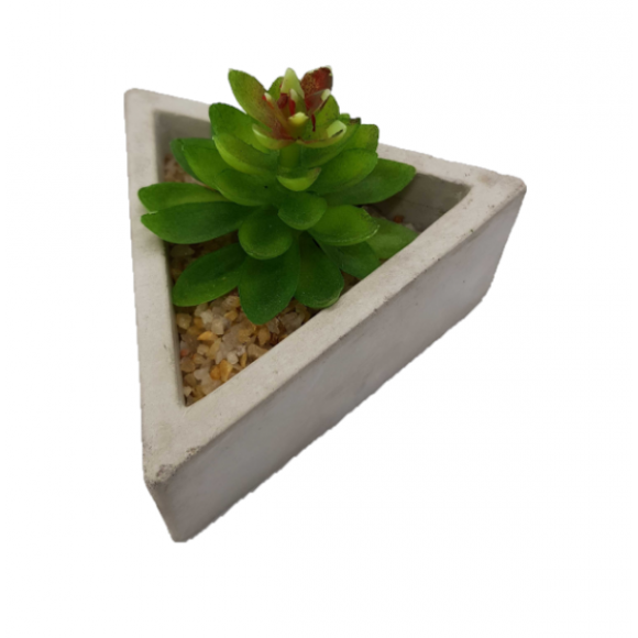 MINI PLANTA VASO CER.9X4CM TRIANGULAR