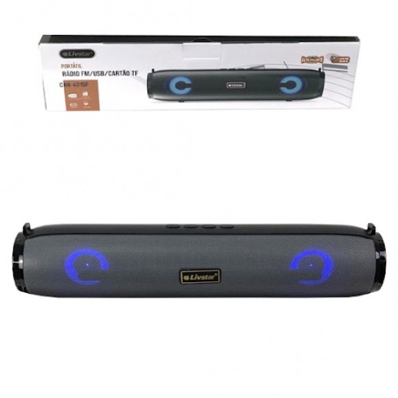 CAIXA BLUETOOTH USB RÁDIO 32X7CM