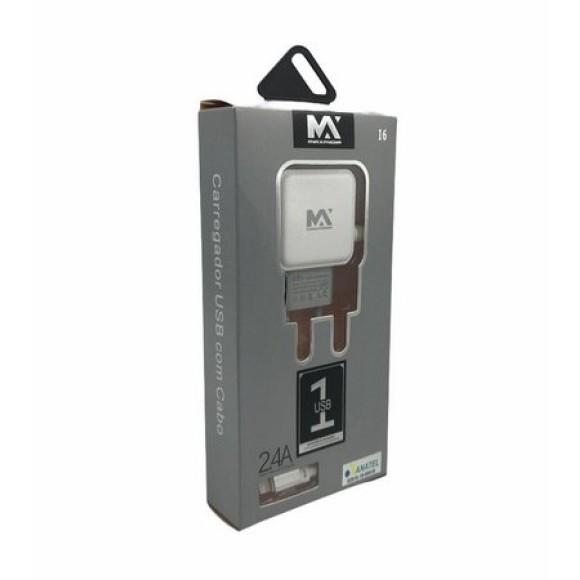 CARREGADOR USB IPHONE 2.4A